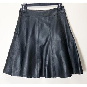 White House Black Market Skirts - White House Black Market Leather fit flare skirt 0